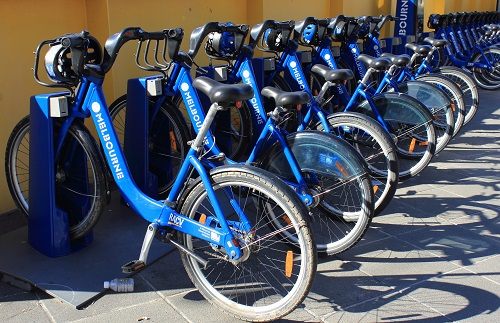 Getting around Melbourne Share Bikes